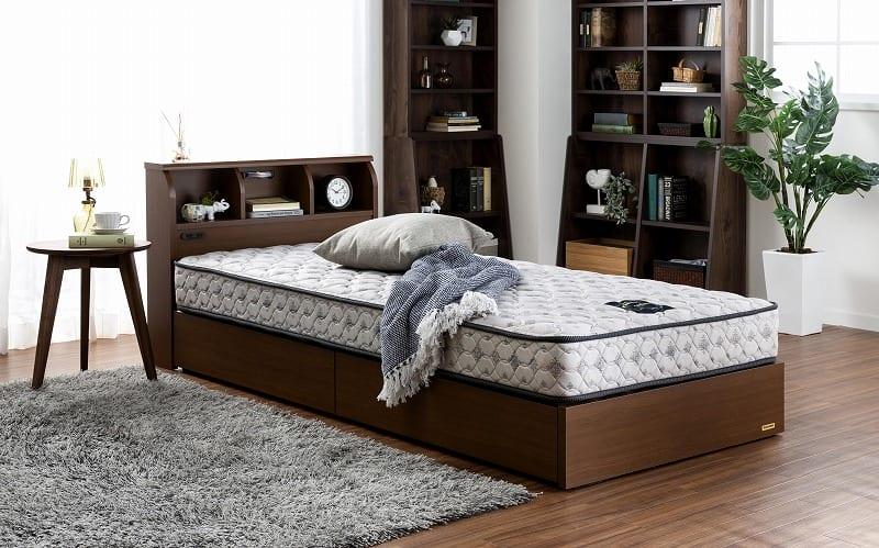 シングルベッド コスモプラス/ZTゼウス(ホワイト):安心の国産ベッド
