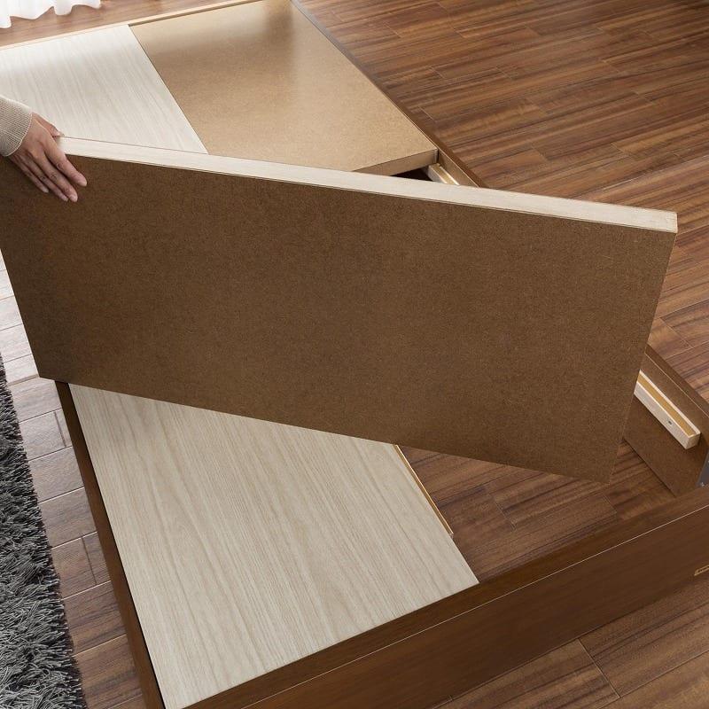 シングルベッド コスモプラス/ZTゼウス(ホワイト):しっかり安定感のある床板