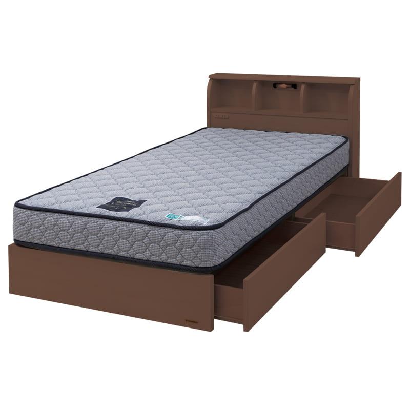 シングルベッド コスモプラス/ZTゼウス(ペールアンバー):安心の国産ベッド ※画像のマットレスは異なります