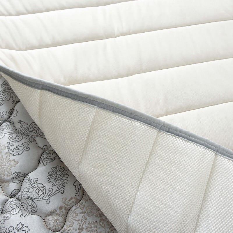 ベッドパッド 単品 ウールブレンドメッシュ ダブル