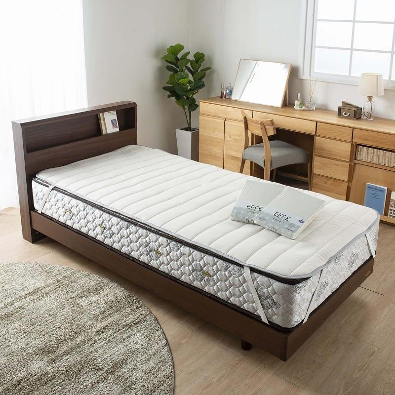 ベッドパッド 単品 ウールブレンドメッシュ クイーン2