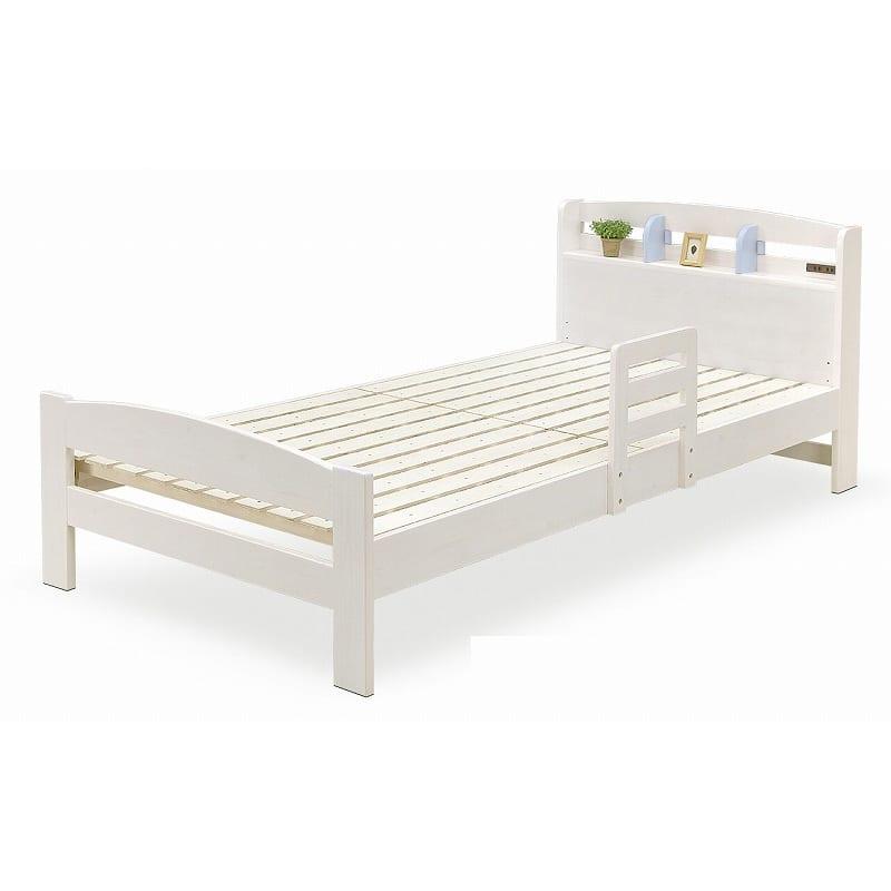 シングルフレームパステル WH/BL:明るく清潔感のあるベッドです。