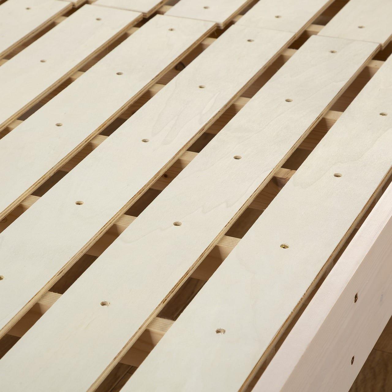 :床板は通気性の良いすのこ使用