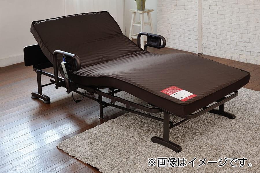 折りたたみベッド AX−BE634N 電動1モーター ブラウン:◆継ぎ目のないシームレスマット。