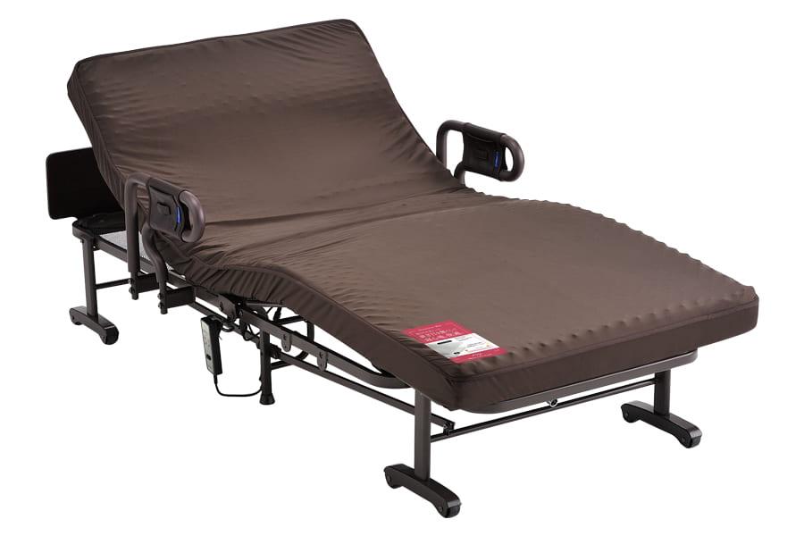 折りたたみベッド AX-BE634N 電動1モーター ブラウン(電動1