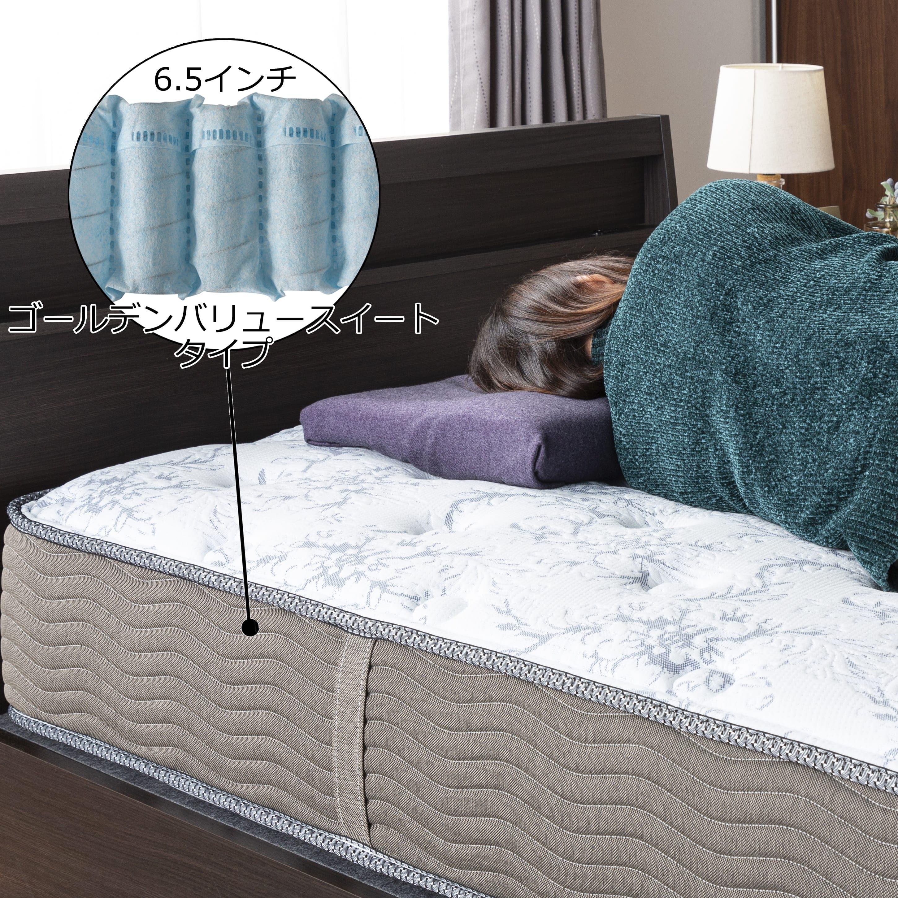 シモンズ 6.5インチGVスイートPRE AB15S09(シングルマットレス):ソフトな寝心地の、ニューフィットタイプ