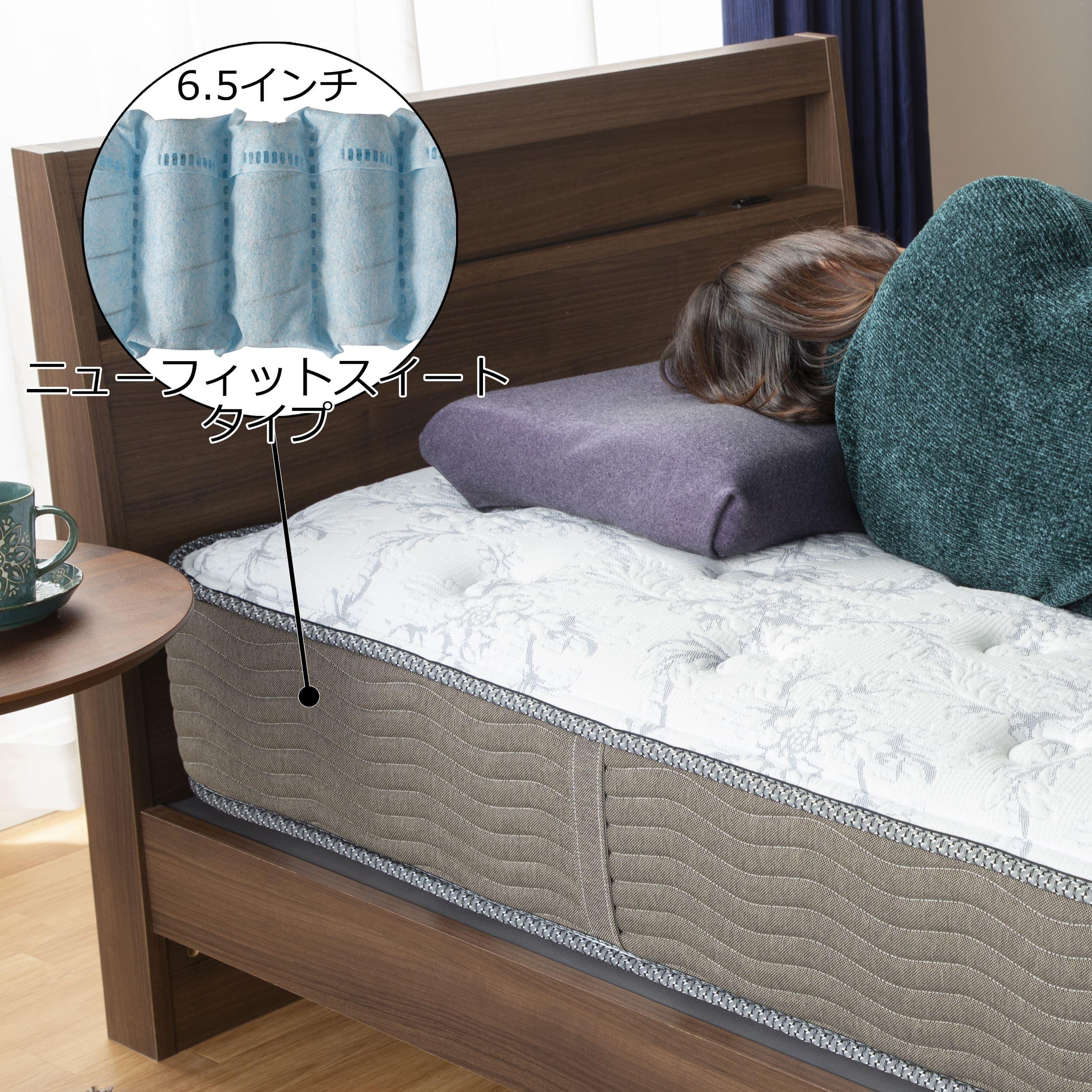 シモンズ 6.5インチNFスイートPRE AB15S08(シングルマットレス):ソフトな寝心地の、ニューフィットタイプ
