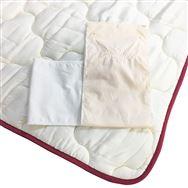 【寝装品3点セット】ラグジュアリー�U シングル 45cm厚 ホワイト/IV