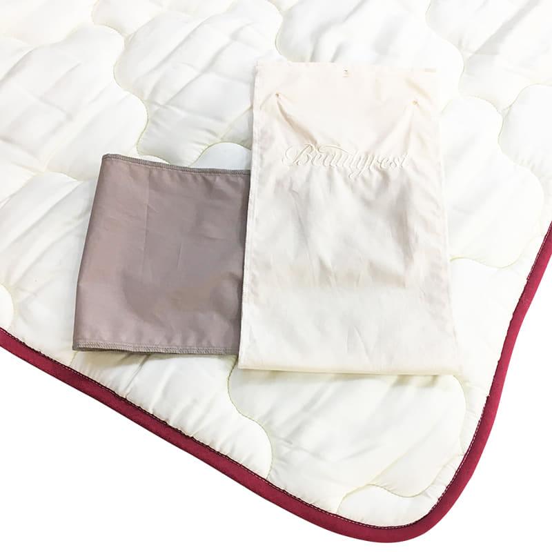 【寝装品3点セット】ラグジュアリー�U セミダブル 45�p厚 ブラウン/IV:快適な眠りのために大切な寝装品