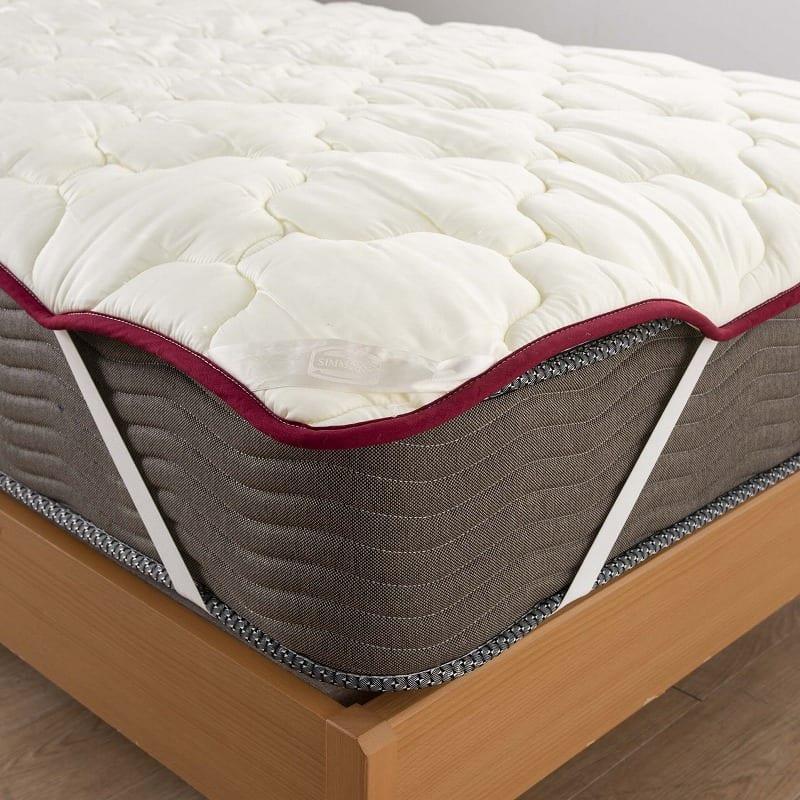 【寝装品3点セット】ラグジュアリー�U ダブル 45�p厚:パッドのずれを抑える仕様