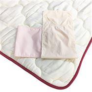 【寝装品3点セット】ラグジュアリー�U クイーン 45cm厚 ピンク/IV