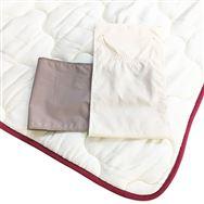 【寝装品3点セット】ラグジュアリー�U クイーン 45cm厚 ブラウン/IV