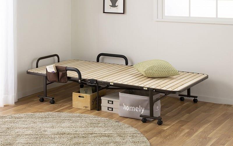 収納式桐すのこベッド AX−BF1006:急な来客やご家族が泊まりに来た際に