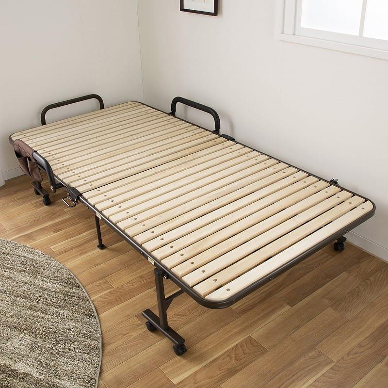 収納式桐すのこベッド AX−BF1006:通気性good!