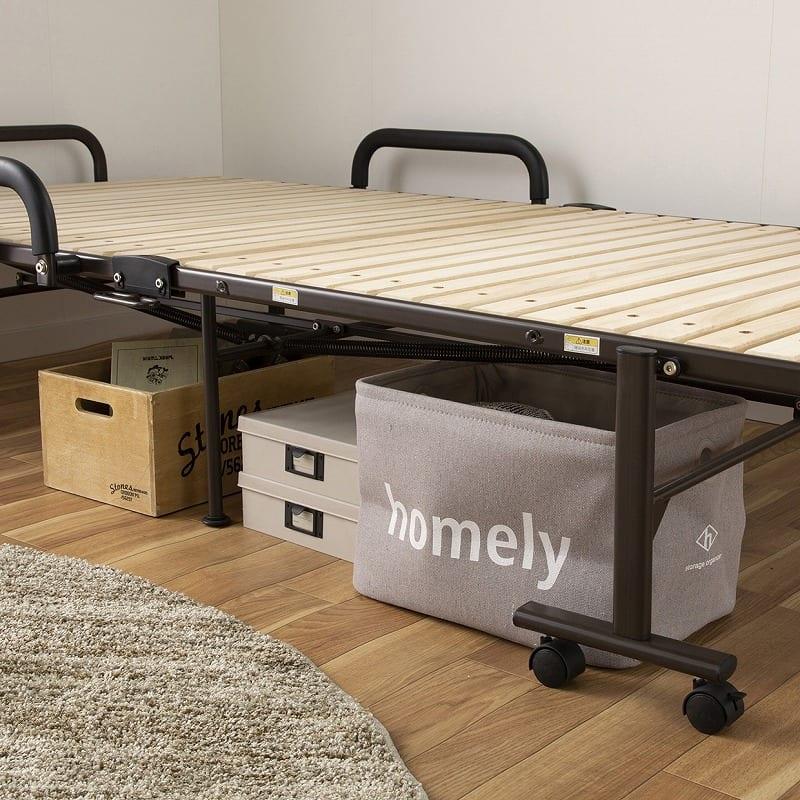 収納式桐すのこベッド AX−BF1006:床下収納出来ます