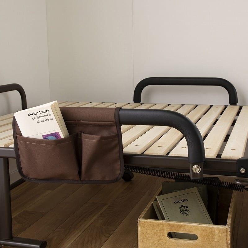収納式桐すのこベッド AX−BF1006:サイドグリップ