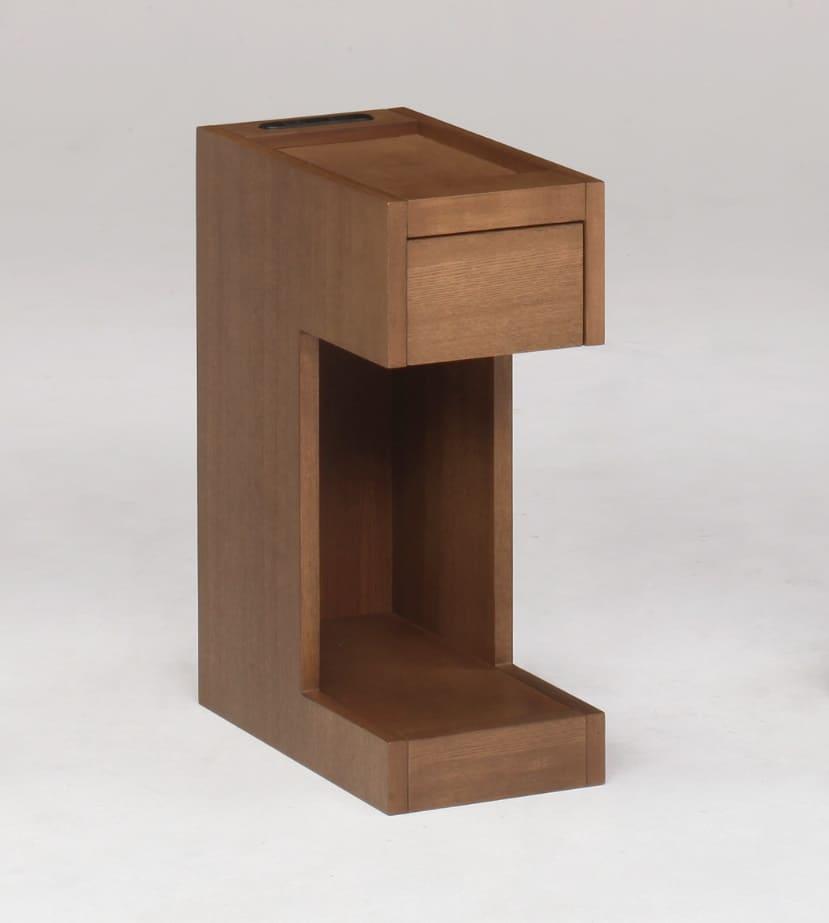 ナイトテーブルNT503 BR:《スリムタイプのナイトテーブル「NT503」》