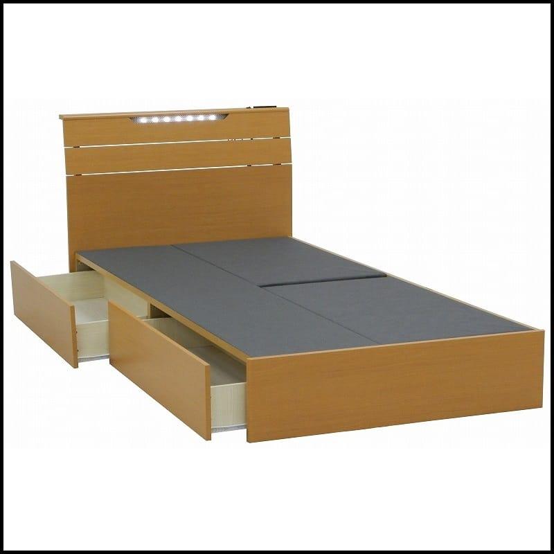 シングルフレーム アスター 引付 LBN:シマホで人気のLEDライト付きベッドフレーム