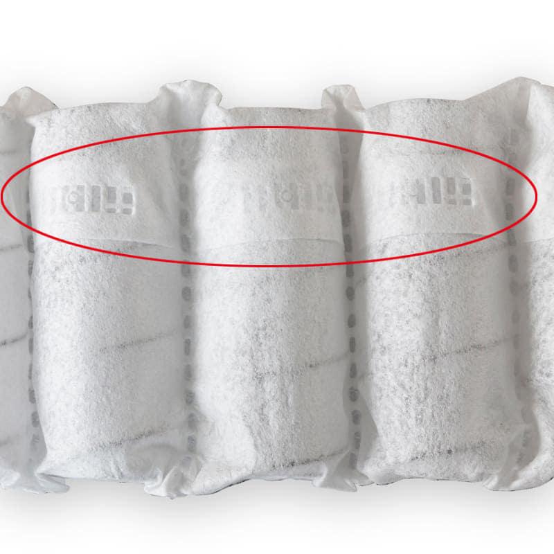 シモンズ 5.5インチニューフィット2 AB16S13(クイーンマットレス):通気性と強度に優れた不織布