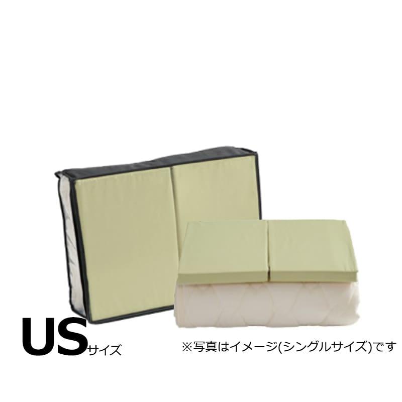 【寝装品3点セット】セイキン USサイズ H30 PD940 グリーン:BOXシーツ(同色)2枚とベッドパット1枚の寝装品3点セット