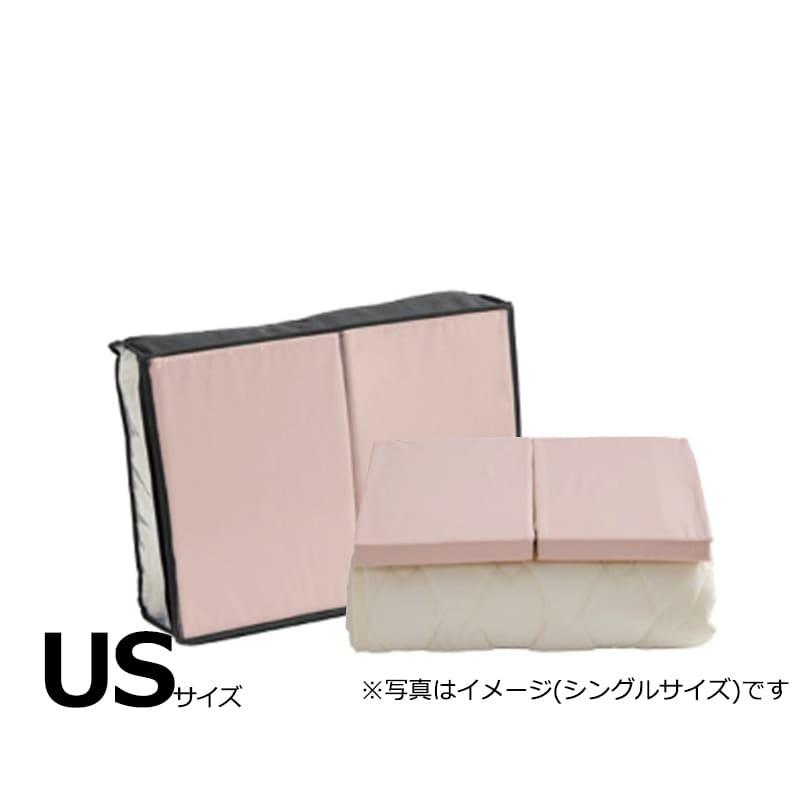 【寝装品3点セット】セイキン USサイズ H30 PD940 ピンク:BOXシーツ(同色)2枚とベッドパット1枚の寝装品3点セット