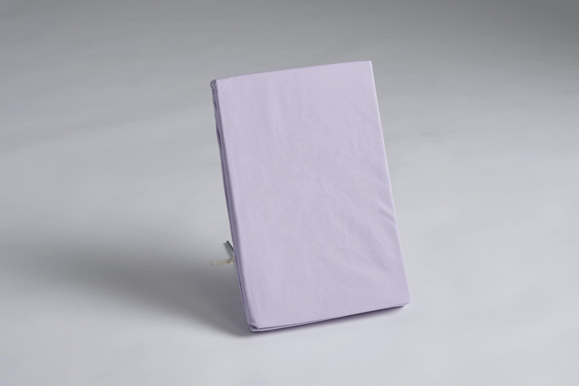 ボックスシーツ セミダブル用 36H パープル:《綿100%を使用したボックスシーツ》