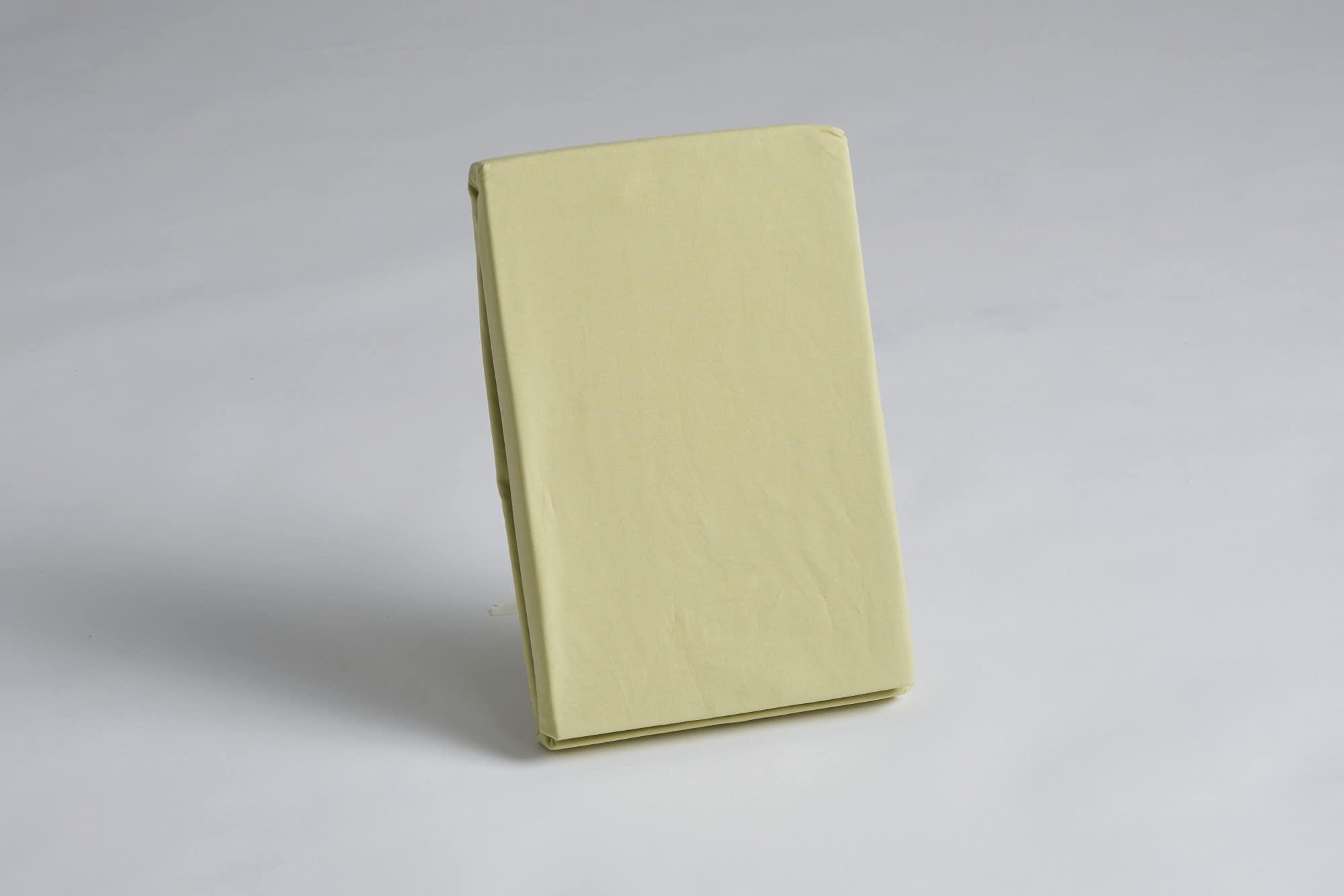 ボックスシーツ シングル用 45H グリーン:《綿100%を使用したボックスシーツ》