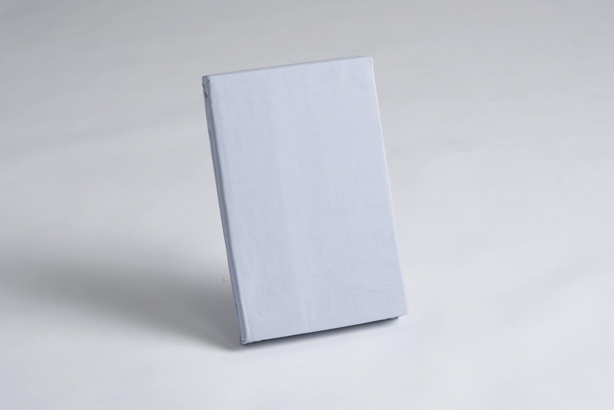 ボックスシーツ ダブル用 45H ブルー:《綿100%を使用したボックスシーツ》
