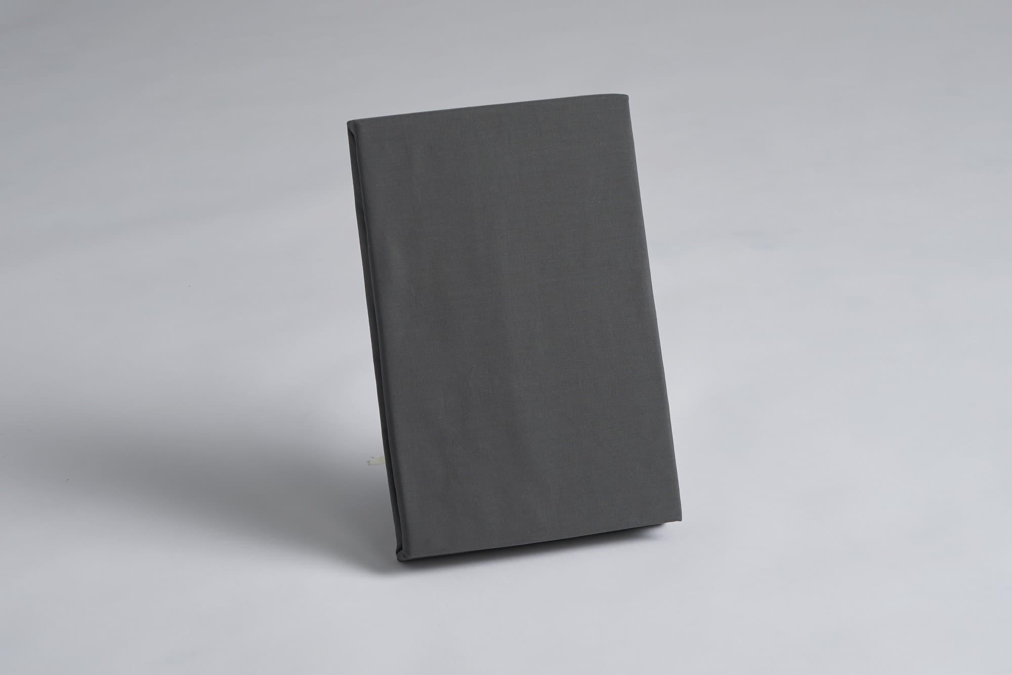 ボックスシーツ ダブル用 45H グレー:《綿100%を使用したボックスシーツ》