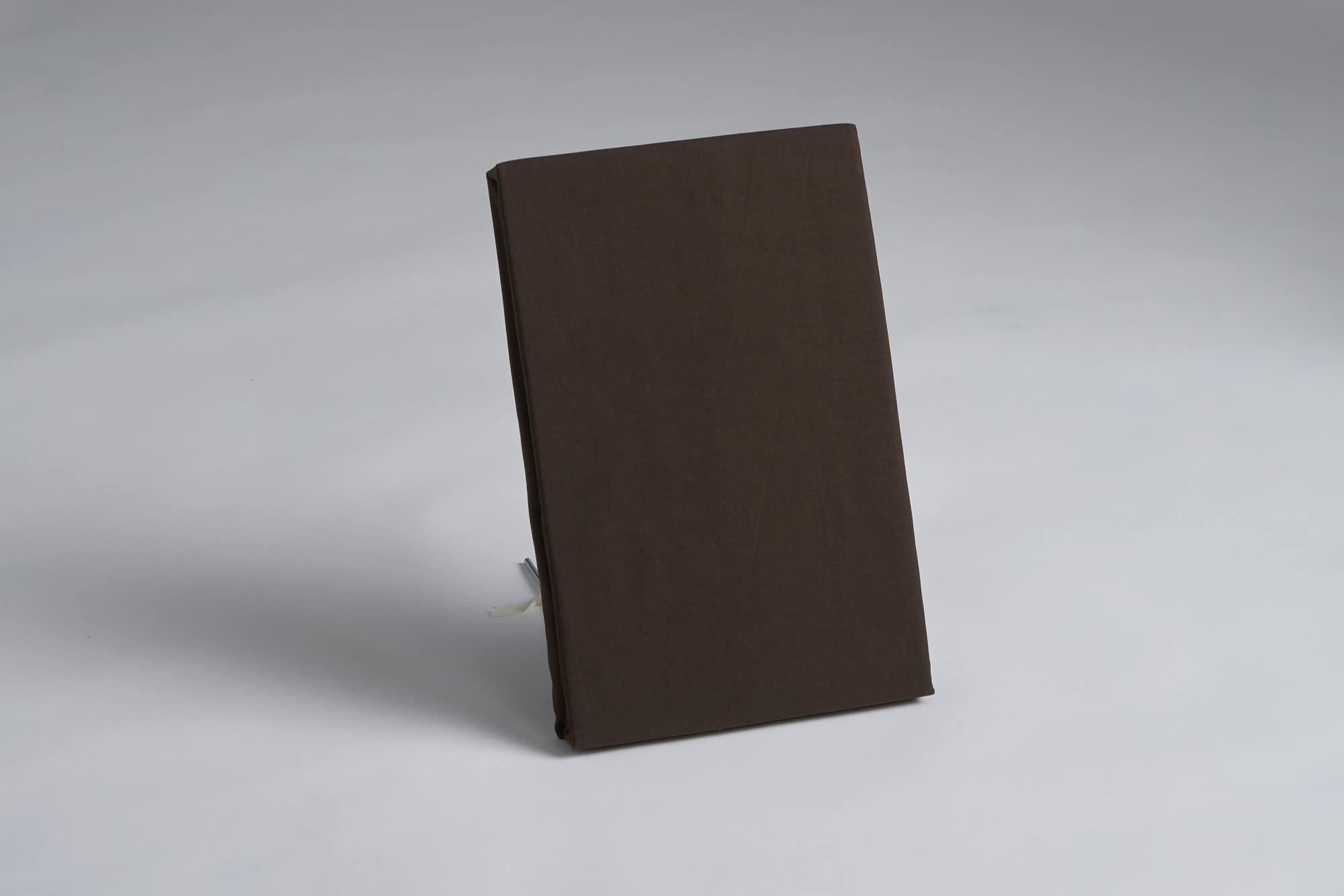 ボックスシーツ ダブル用 45H ブラウン:《綿100%を使用したボックスシーツ》