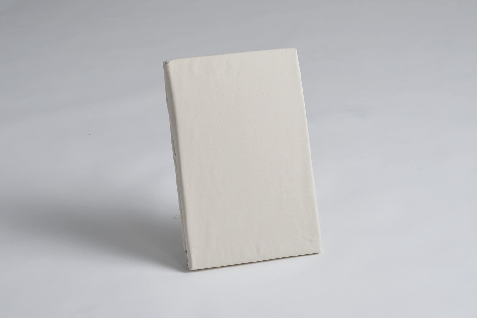 ボックスシーツ クイーン2用 45H ナチュラル:《綿100%を使用したボックスシーツ》