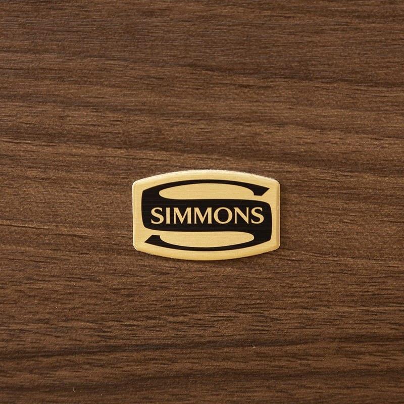 シモンズ クイーン1フレーム シエラ スリムシェルフ 引出付 NA ※マットレス別売※:世界のベッド