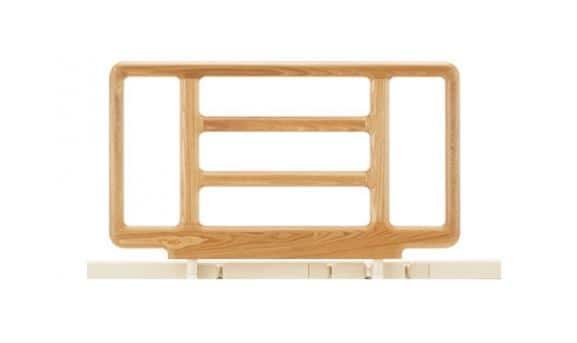 リクライニング手摺り SR−300ウッドJJ 2本1組 NAナチュラル:《電動リクライニングベッド用手摺》