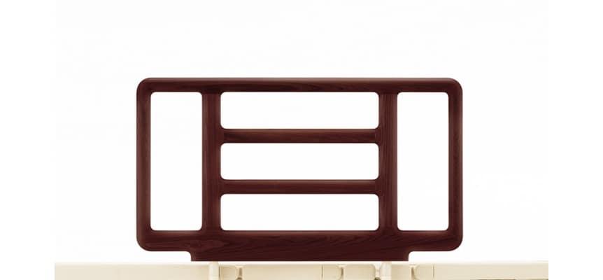 リクライニング手摺り SR−300ウッドJJN1V(1本) ダークブラウン:《電動リクライニングベッド用手摺》