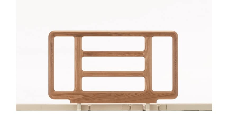 リクライニング手摺り SR−300ウッドJJN1V(1本) ナチュラル:《電動リクライニングベッド用手摺》