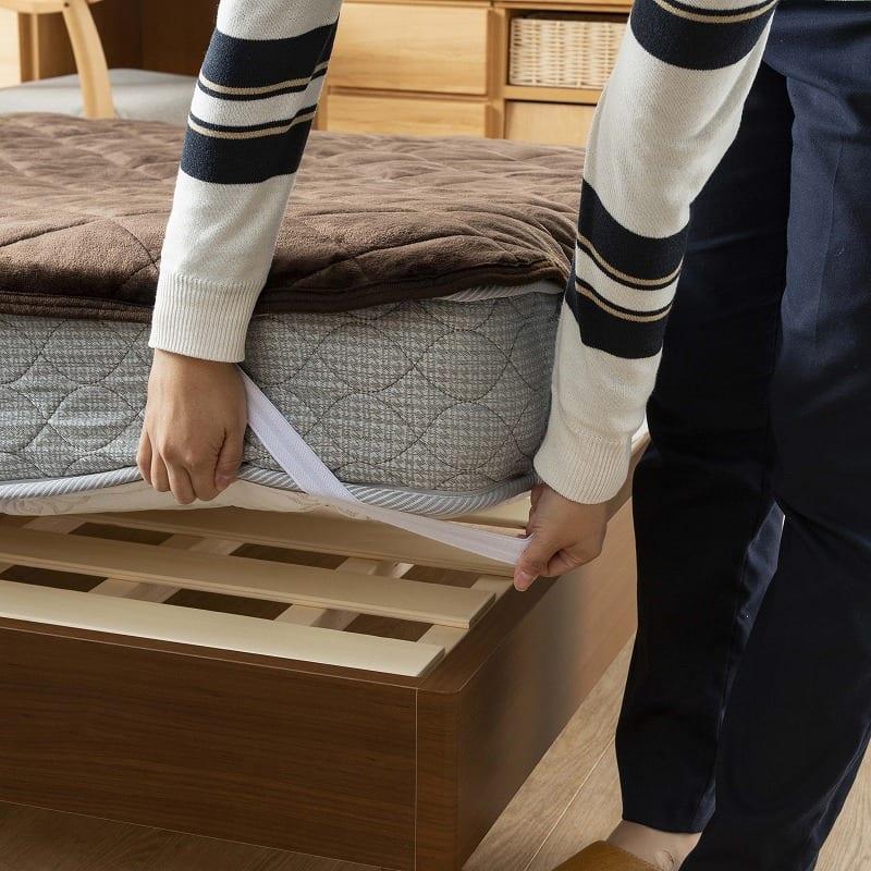 フランスベッド セミシングルマットレス シルバー800DX3 GY:女性でもお手入れが簡単♪