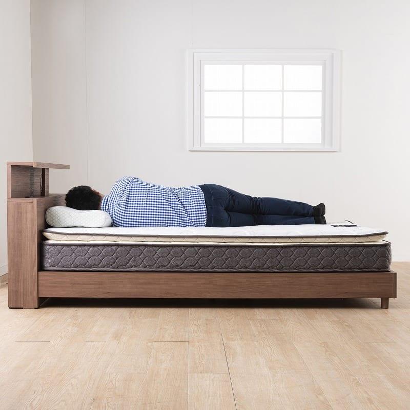 フランスベッド セミダブルマットレス フトントップDLX3:ピロートップで寝心地アップ