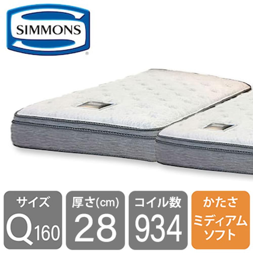 シモンズ6.5インチNFスイートユーロトップAB17S14(クイーン2マットレス)※2枚分割タイプ※:高級ホテルのベッドの寝心地