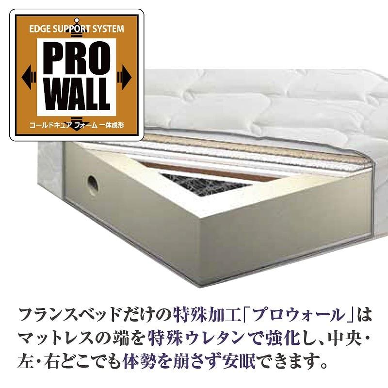 フランスベッド セミダブルマットレス PWミュールDLX:プロウォールとは