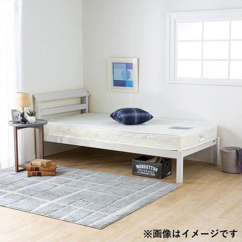 シングルフレーム ルコル(マットレス別売) ホワイト:シンプルで個性的なカラーのスチールベッド