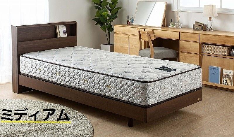 フランスベッド シングルマットレス PWミュールSPL(ハード):シングルサイズなのにセミダブルの寝心地
