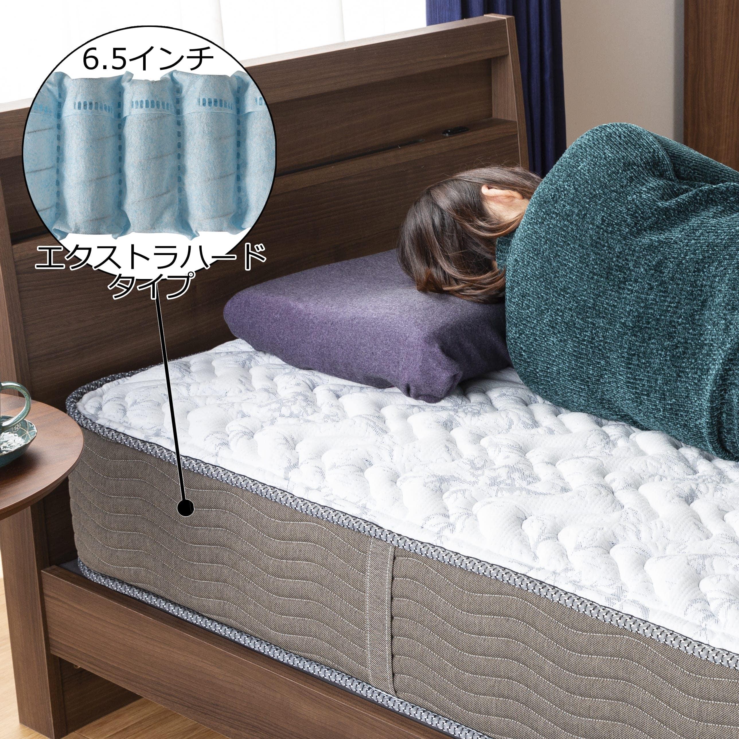 シモンズ 6.5インチEHスイートPRE AB17S17(セミダブルマットレス):ソフトな寝心地の、ニューフィットタイプ