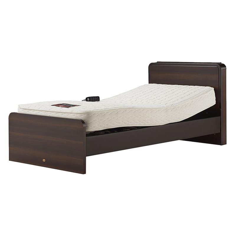 電動シングルベッド  2モーターNグランサリー キャビネット DK/5.5ニューフィット ダーク:《バリエーション豊富な電動ベッドNグランサリー》※写真は【シングルサイズ】