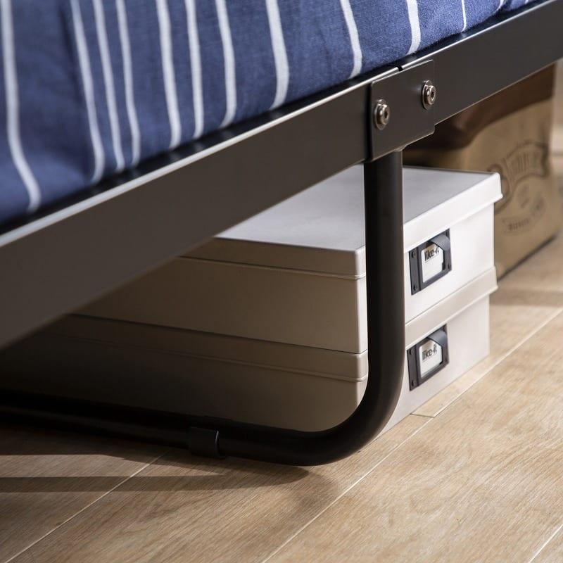 シングルサイズ デスク付きベッド KBT−050(WH) ※マットレス別売:お掃除ラクラク♪