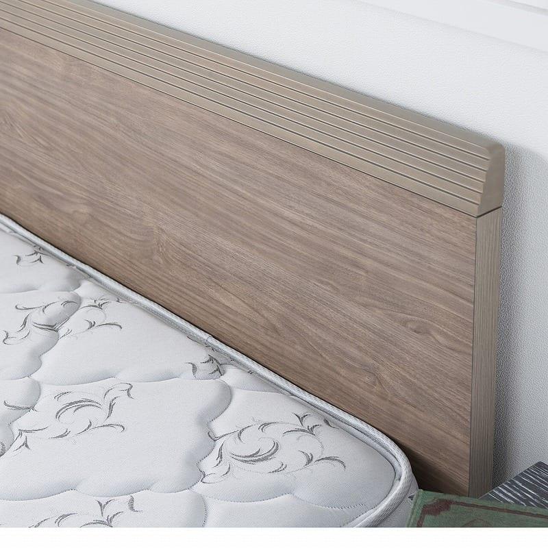 シモンズ シングルツインベッド デュアルサポート20 DC グレージュ:どんなお部屋にも合わせやすい、シンプルなデザイン