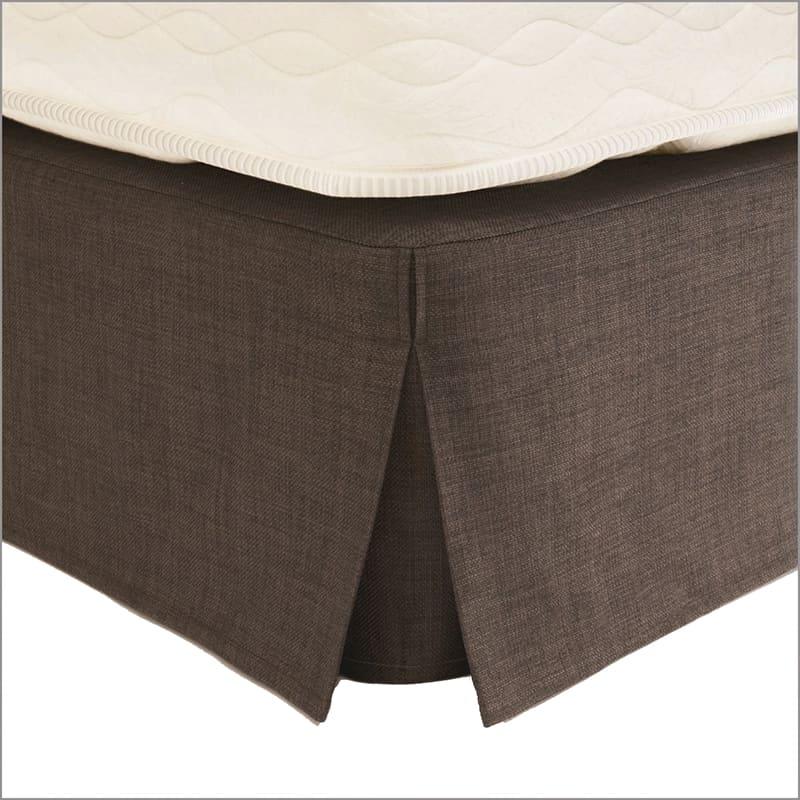 ボックススカートLF1042N 21cm丈 セミダブルブラウン:ボックススカート
