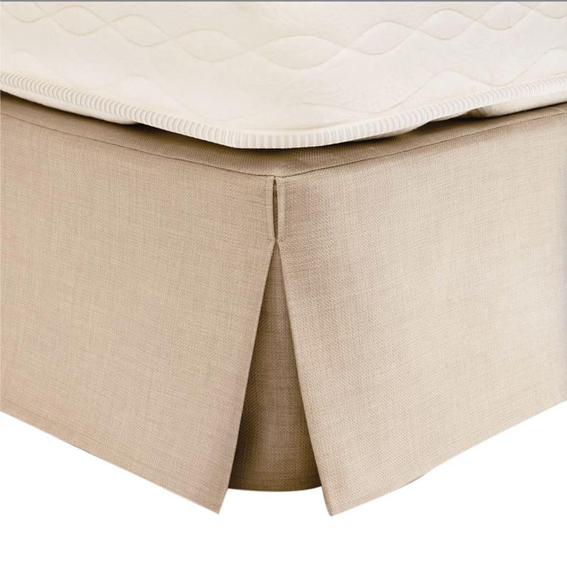 ボックススカートLF1042I 21cm丈 セミダブルアイボリー:ボックススカート