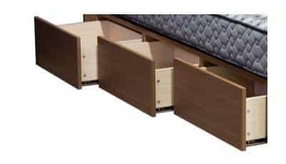 シングルベッド ストレージ�VFD(フラット)3ゾーンポケットダーク