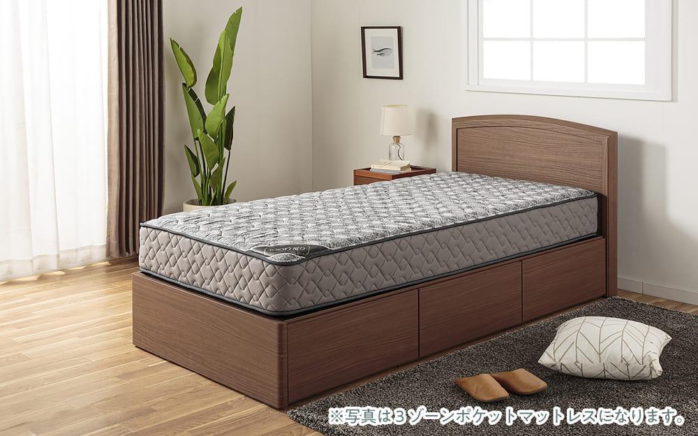 :大容量収納のベッドフレーム