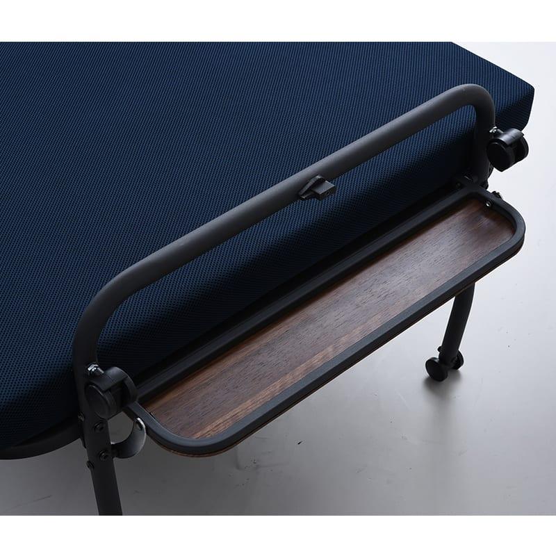 宮付高反発折り畳みベッドS(シングル) MHB−1S NV(ネイビー)